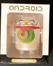 android mini collectible lucky cat white cat