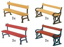 faller ho scale park benches 1 87 plastic