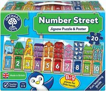 jigsaw puzzle orchard toys number street 20pc 31n