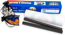 bowling game 2 in 1 tabletop curling game family