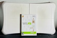 wii fit balance board game complete tested