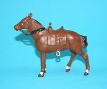 crescent toys lead riding horse 1950s