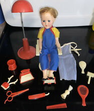 remco johnny at barber shop w doll 1950s