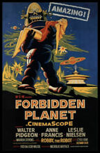robby the robot forbidden planet movie poster