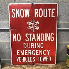 road sign authentic new york city snow route