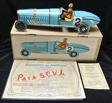 large tin litho metal wind up toy