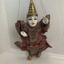 wooden puppet indian puppet doll indian man doll