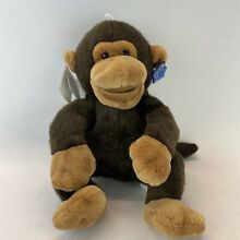 russ berrie applause monkey puppet brown co