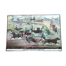 ives currier two sided jigsaw puzzle