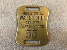 hill brass brass baggage tag watch hill to