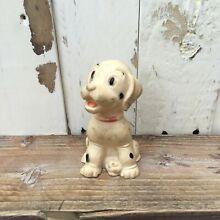 1960 s dalmation dog rubber toy 50s