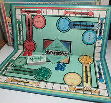 board game 1992 sorry parker brothers complete