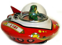 wind up friction ufo space ship