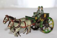 penny toy cannon horse carriage tin