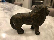 hubley early 1900s cast iron coin bank
