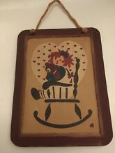 raggedy ann hanging picture plaque reverse