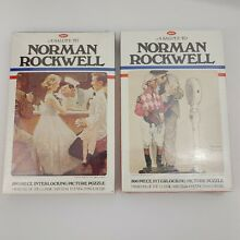 norman rockwell puzzle lot 2 jaymar jigsaw puzzles a