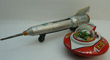 flying saucer tin toy wind up space ship x 15 ko