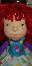 waldorf inspired doll 18 knit body red hair