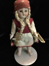 mignonette german all bisque girl 3 5 in glass