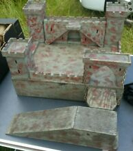 1950 great hand made toy wooden castle