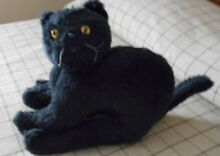 russ berrie looking black stuffed cat made by
