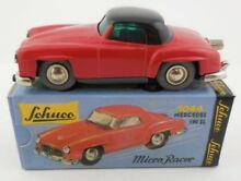 1044 mercedes 190 sl red black wind
