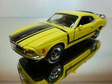 road champs ford mustang 1969 yellow black 1 43
