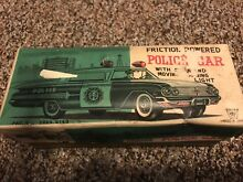 friction powered police car 1962