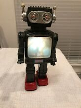 robot tin toy japan black unusual