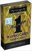 waddingtons london number 1 playing cards gold