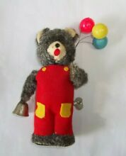 alps wind up bear w balloons ringing