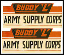 army men replacement water slide decal set