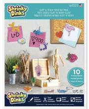 shrinky dinks creative pack 10 sheets frosted