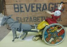 lehmann germany wind up tin toy balky mule