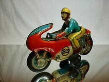 motorcycle tin toy friction hec product driver
