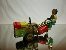 friction tin toy windup china lawn mower