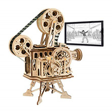 toy movie projector robotime vitascope kit wooden