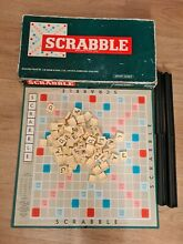 scrabble board game boxed complete