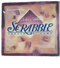 scrabble deluxe edition rotating board game