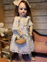 bisque doll doll fg francois gaultier closed
