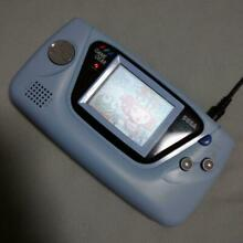 sega game gear used blue console handheld system