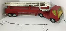 nylint fire dept truck pressed steel toy