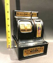 uncle sam 1940 wwii s 3 coin bank durable toy