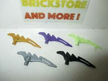 crescent lego weapon blade serrated bar lame