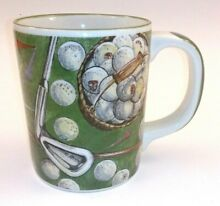 russ berrie old time golf golfers coffee cup