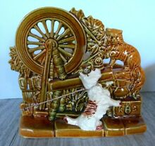 tether car mccoy pottery spinning wheel