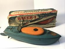sutcliffe racer 1 tinplate speed wind up boat