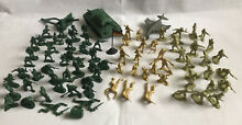 lead soldiers 85 pieces military model plastic