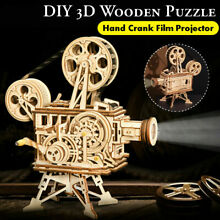 toy movie projector 3d puzzle diy wooden vitascope
